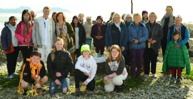 4 Group at Kaikoura Spring Equinox 2017 Co-creating With The Ancient Ones Sally Brake