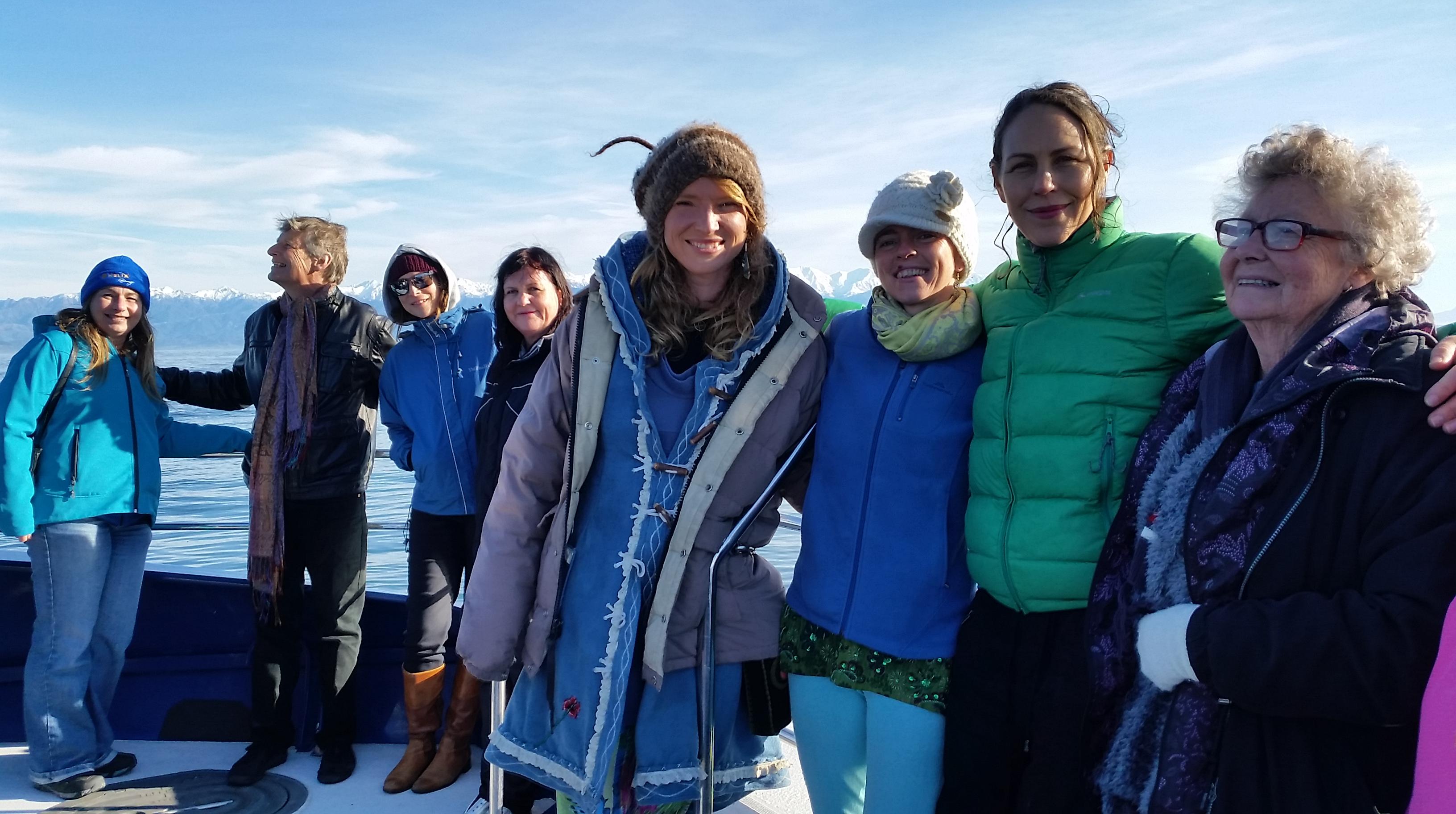Group on whale watch Kaikoura 2017