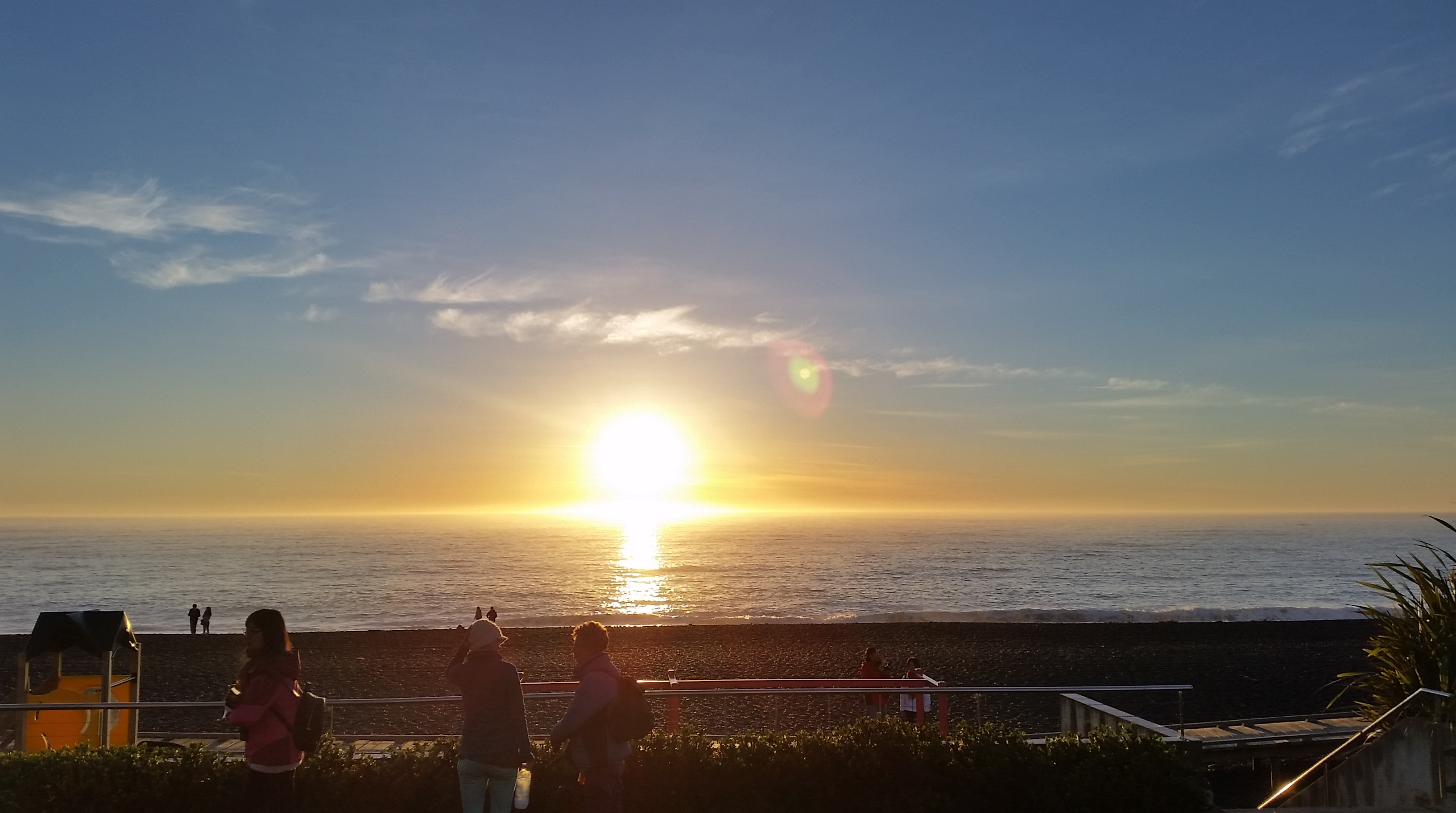 Sunrise before whale watch Kaikoura 2017
