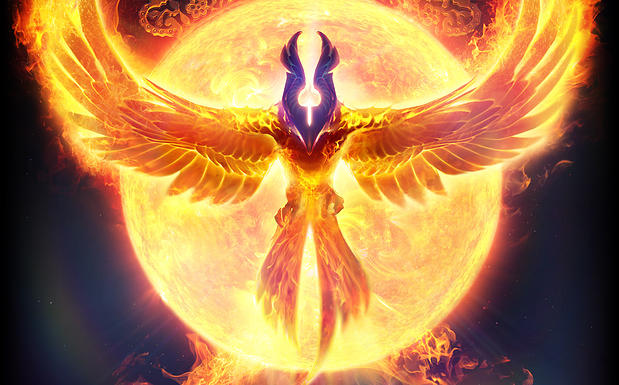 Resurrection flame as wings